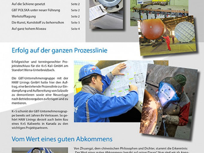 The Messenger: Information, news and perspectives in the current issue of GBT's customer magazine